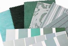 Selezione di progettazione di colore verde della menta fotografie stock