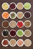 Selezione di Superfood di dieta Fotografie Stock