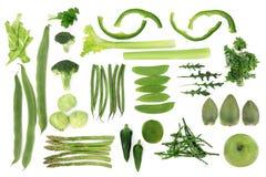 Selezione di verdure verde dell'alimento Fotografia Stock