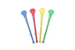 Selezione di Vuvuzela Immagini Stock