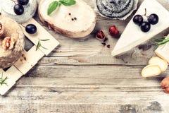 Selezione fine di formaggio francese Fotografia Stock Libera da Diritti