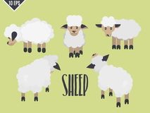 Selezione piana animale sveglia dell'agnello royalty illustrazione gratis