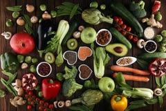 Selezione pulita di cibo dell'alimento sano E fotografia stock libera da diritti