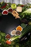 Selezione pulita di cibo dell'alimento sano E immagini stock libere da diritti