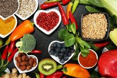 Selezione pulita di cibo dell'alimento sano E immagine stock libera da diritti