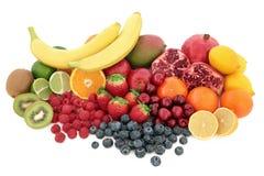Selezione sana di Superfood della frutta Fotografie Stock Libere da Diritti