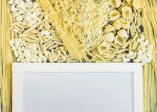 Selezione a secco mista della pasta Immagine Stock Libera da Diritti