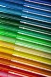 Selezione variopinta delle penne Fotografia Stock Libera da Diritti