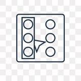 Selezioni tutta l'icona di vettore isolata su fondo trasparente, linea illustrazione vettoriale