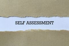 Free Self Assessment On Paper Stock Photos - 206476583