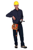 Self-assured builder. Knows what's best stock photos