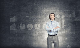 Self assured businessman Stock Images