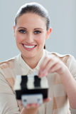Self-assured businesswoman consulting Stock Image