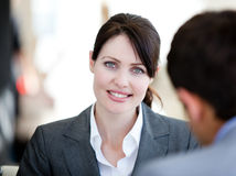 Self-assured businesswoman in a meeting Royalty Free Stock Photo