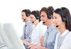 Self-assured customer service agents Stock Photography