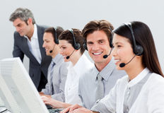 Self-assured customer service representatives Royalty Free Stock Photos