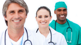 Self-assured medical team standing Royalty Free Stock Photography
