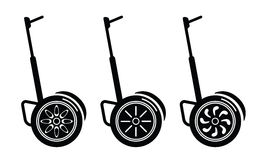 Self-balancing electric scooters  on white. Self-balancing electric scooters illustration on white background Royalty Free Stock Photography