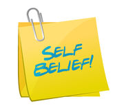 Self belief post illustration design Royalty Free Stock Images