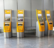 Self check-in facilities at Frankfurt International Airport Royalty Free Stock Images