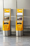 Self check-in facilities at Frankfurt International Airport Stock Photo