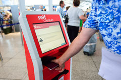 Self check-in kiosk Royalty Free Stock Images