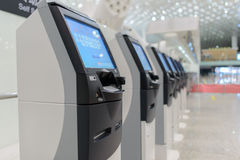 Self check-in kiosks Royalty Free Stock Photography
