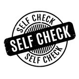 Self Check rubber stamp Stock Images