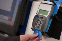 Self checkout card entry Stock Photography