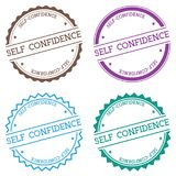 Self-confidence badge isolated on white. Stock Photos
