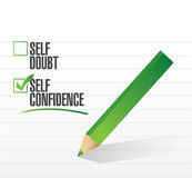 Self confidence check mark illustration Stock Photography