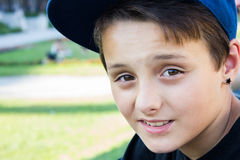 A self-confident boy Royalty Free Stock Images