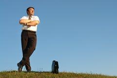 Self-confident businessman Royalty Free Stock Photos