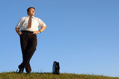 Self-confident businessman Stock Photography