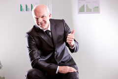 Self confident businessman agreeing Stock Photo