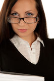 Self-confident businesswoman in glasses Royalty Free Stock Image