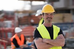 Self confident civil engineer posing royalty free stock photos