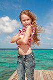 Self confident girl Stock Photos