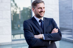 Self-confident handsome businessman Stock Photo