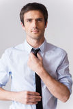 Self-confident and handsome. Royalty Free Stock Photography
