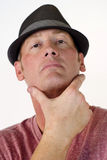 Self-confident Man in Hat Stock Photography