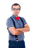 Self-confident nerd Royalty Free Stock Image