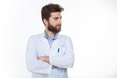 Self confident practitioner with a lab coat Stock Photo