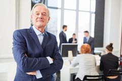 Self confident senior as chief executive. With experience royalty free stock image