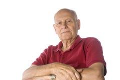 Self confident senior man. Over white background Stock Photography