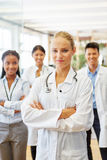Self confident woman as doctor Stock Image