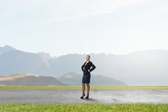She is self confident Royalty Free Stock Photo