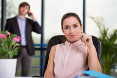 Self-confident young manager Royalty Free Stock Image
