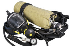 Self contained breathing apparatus Stock Images