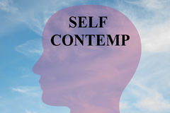 Self Contempt - mental concept Royalty Free Stock Images